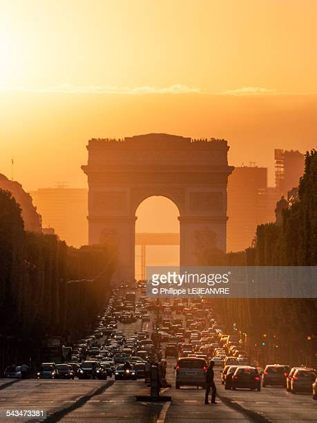 Champs-Elysees at sunset