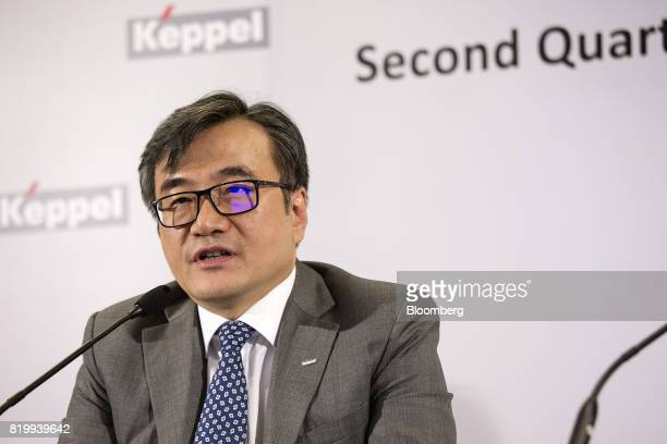 Chan Hon Chew chief financial officer of Keppel Corp speaks during a news conference in Singapore on Thursday July 20 2017 Keppel said it's going to...
