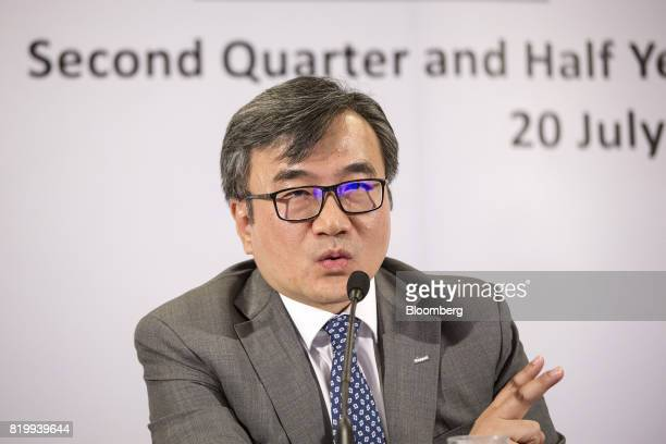 Chan Hon Chew chief financial officer of Keppel Corp speaks during a news conference in Singapore on Thursday July 20 2017 Keppelsaid it's going to...