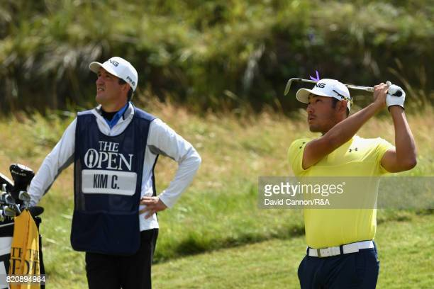 Chan Kim of the United States during the third round of the 146th Open Championship at Royal Birkdale on July 22 2017 in Southport England