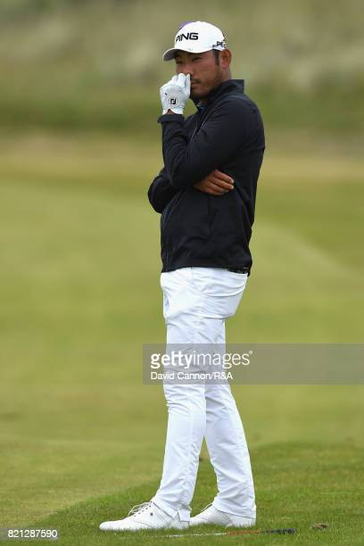 Chan Kim of the United States looks on during the final round of the 146th Open Championship at Royal Birkdale on July 23 2017 in Southport England