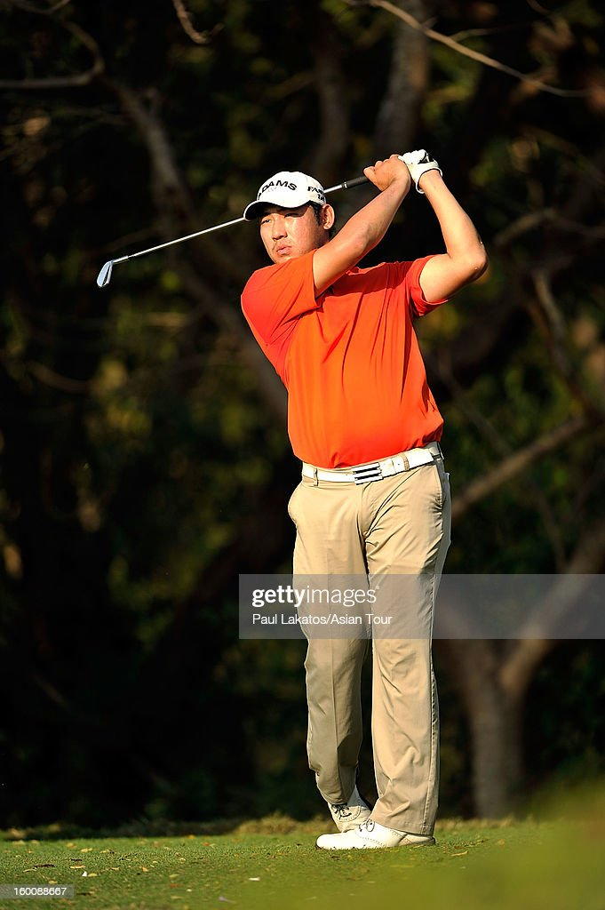 Chan Kim of USA, in action before winning the Asian Tour Qualifying final stage at Springfield Royal Country Club on January 26, 2013 in Hua Hin, Thailand.