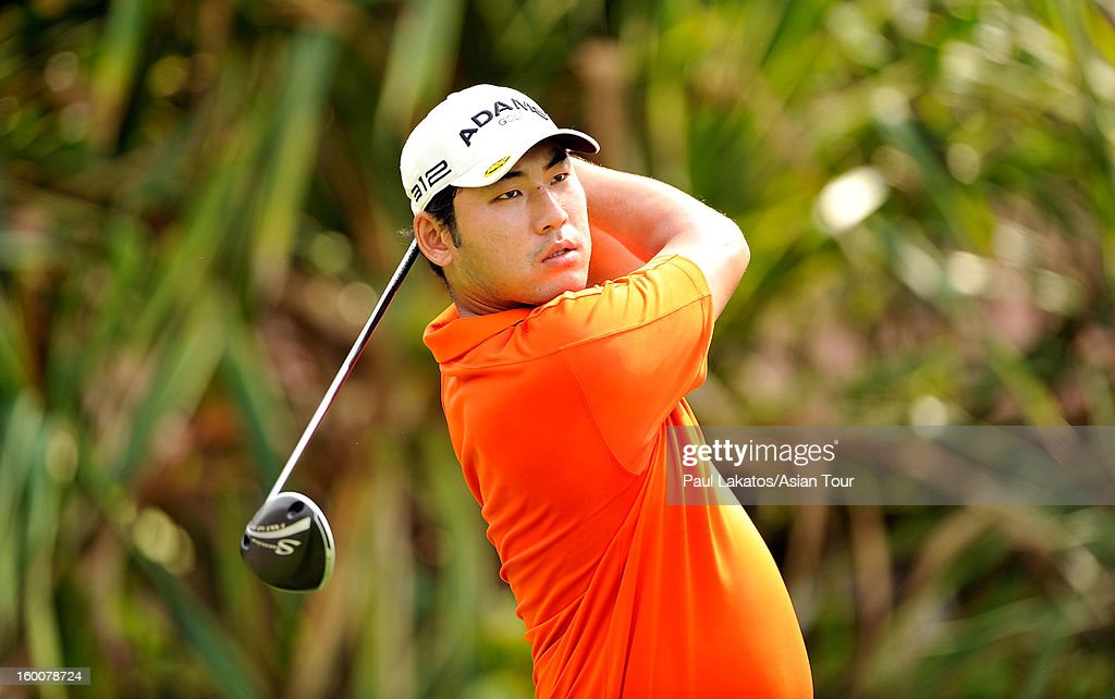 Chan Kim of USA plays a shot during round four of the Asian Tour Qualifying School Final Stage at Springfield Royal Country Club on January 26, 2013 in Hua Hin, Thailand.