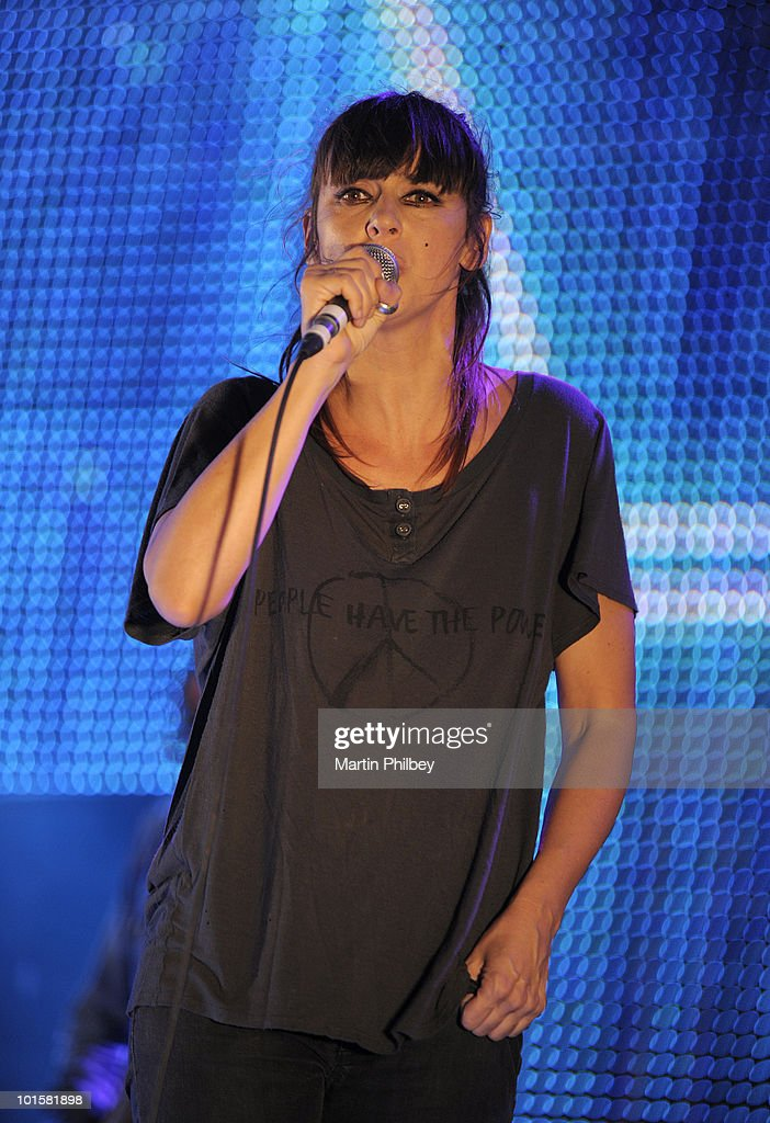 Chan Marshall (aka Cat Power) performs on stage at the Pyramid Rock Festival on 30th December 2009 in Phillip Island, Australia.