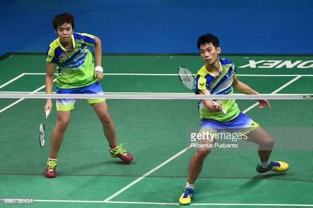 Chan Peng Soon and Yen Wei Peck of Malaysia compete against Lu Ching Yao and Chiang Kai Hsin of Chinese Taipei during Mixed Double Quarterfinal match...