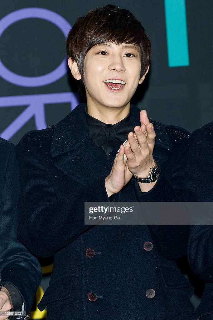 Chan Yeol of boy band EXO-K arrives at the 2012 SBS Korea Pop Music Festival named 'The Color Of K-Pop' at Korea University on December 29, 2012 in Seoul, South Korea.