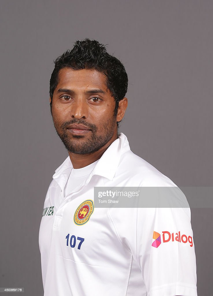 Chanaka Welagedara of Sri Lanka poses for a headshot during the Sri Lanka portrait session at Lord's Cricket Ground on June 10, 2014 in London, England.