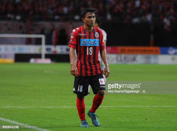 Chanathip Songkrasin of Consadole Sappporo in action during the JLeague J1 match between Consadole Sapporo and Ventforet Kofu at Sapporo Dome on...