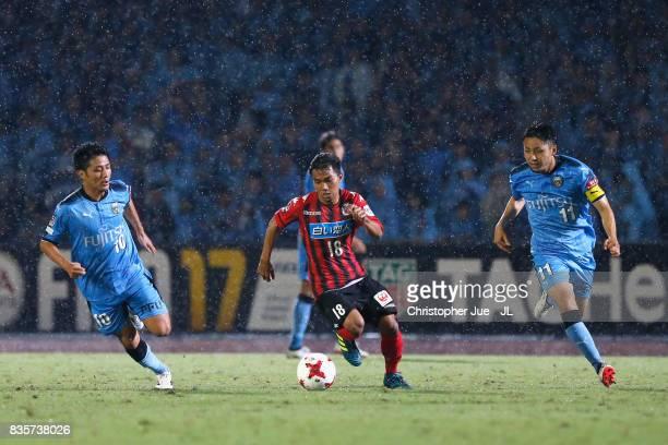Chanathip Songkrasin of Consadole Sappporo in action during the JLeague J1 match between Kawasaki Frontale and Consadole Sapporo at Todoroki Stadium...