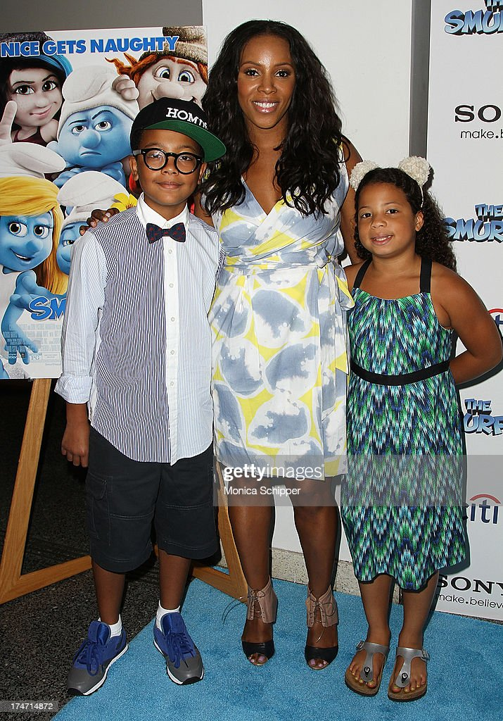 Chance Ambrose, June Ambrose and Summer Ambrose attend 'The Smurfs 2' New York Blue Carpet Screening at Lighthouse International Theater on July 28, 2013 in New York City.