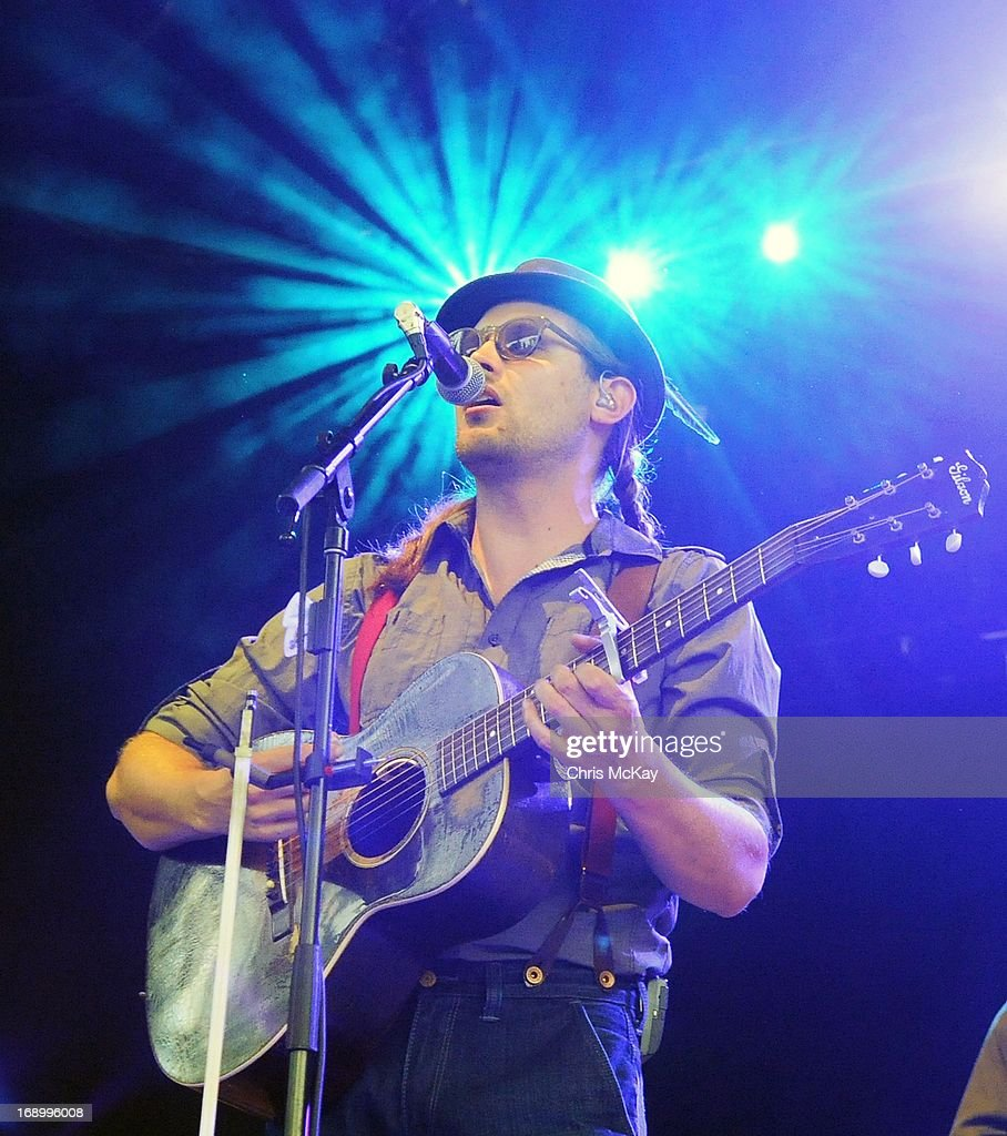 Chance McCoy of Old Crow Medicine Show performs at Verizon Wireless Amphitheater on May 17, 2013 in Alpharetta, Georgia.
