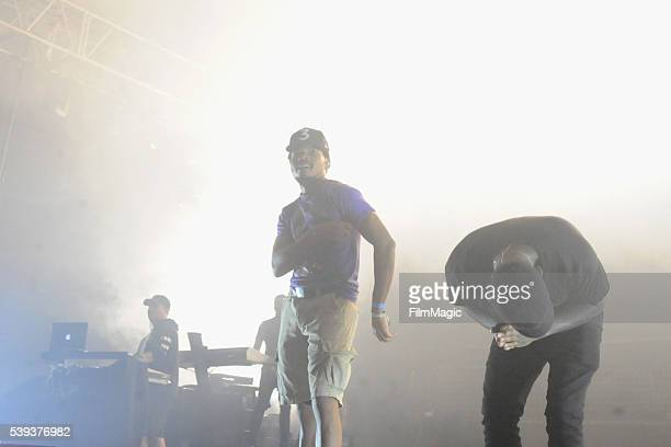 Chance the Rapper and Bryson Tiller perform onstage at That Tent during Day 2 of the 2016 Bonnaroo Arts And Music Festival on June 10 2016 in...