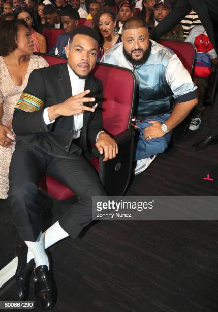 Chance the Rapper and DJ Khaled at 2017 BET Awards at Microsoft Theater on June 25 2017 in Los Angeles California