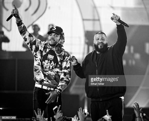 Chance the Rapper and DJ Khaled perform during the 2017 iHeartRadio Music Festival at TMobile Arena on September 23 2017 in Las Vegas Nevada