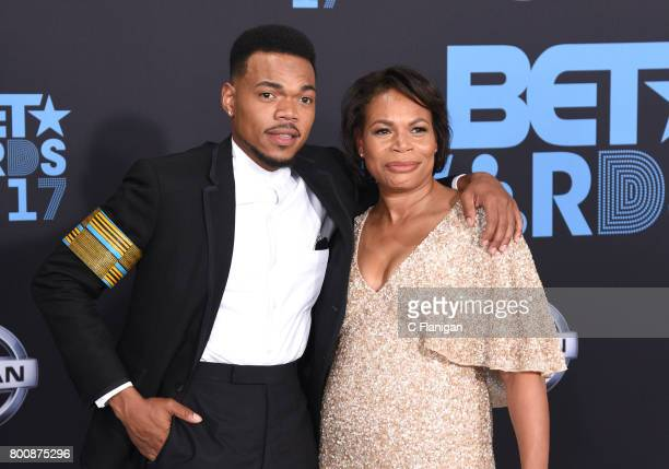 Chance the Rapper and Lisa Bennett at the 2017 BET Awards at Microsoft Square on June 25 2017 in Los Angeles California