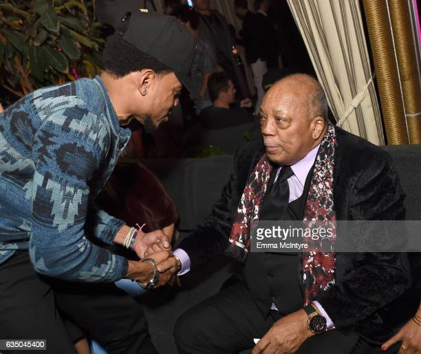 Chance the Rapper and producer Quincy Jones attends GQ and Chance The Rapper Celebrate the Grammys in Partnership with YouTube at Chateau Marmont on...