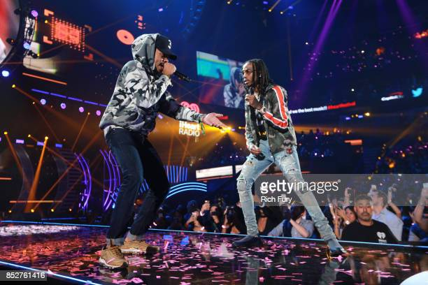 Chance the Rapper and Quavo perform onstage during the 2017 iHeartRadio Music Festival at TMobile Arena on September 23 2017 in Las Vegas Nevada