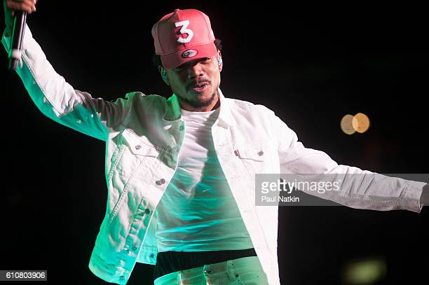 Chance the Rapper at the Magnificent Coloring Day Festival at Comiskey Park in Chicago Illinois September 24 2016