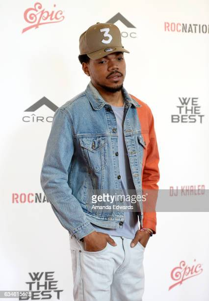 Chance the Rapper attends DJ Khaled's special press conference where DJ Khaled announced the title of his new album is going to be 'Grateful' at The...