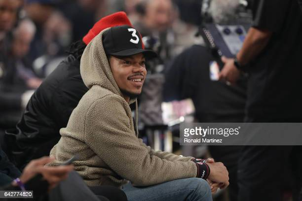 Chance The Rapper attends the 2017 Verizon Slam Dunk Contest at Smoothie King Center on February 18 2017 in New Orleans Louisiana NOTE TO USER User...