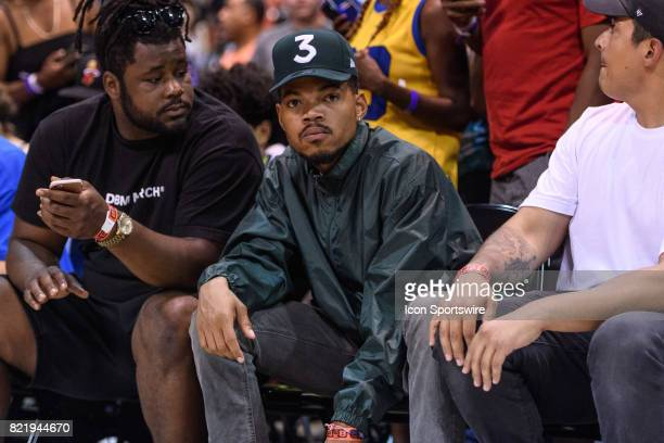 Chance the Rapper during a BIG3 Basketball game on July 23 at the UIC Pavilion in Chicago IL