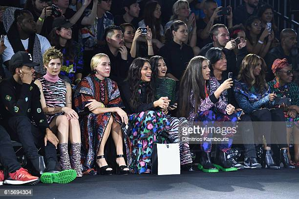 Chance the Rapper Halsey Chloe Sevigny Rosario Dawson Suboi Xiuhtezcatl Martinez Stephen Gan and Iman attend KENZO x HM Launch Event Directed By...