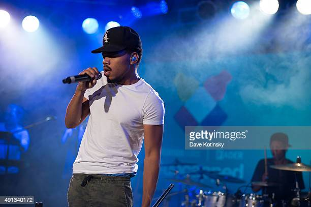 Chance the Rapper performs at the vitaminwater And The Fader Unite To 'HYDRATE THE HUSTLE' For Fifth Anniversary Of #uncapped Concert Series on...