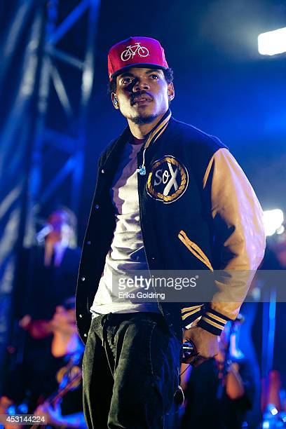 Chance The Rapper performs during 2014 Lollapalooza at Grant Park on August 3 2014 in Chicago Illinois
