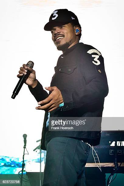 Chance the Rapper performs live during a concert at the Columbiahalle on November 16 2016 in Berlin Germany