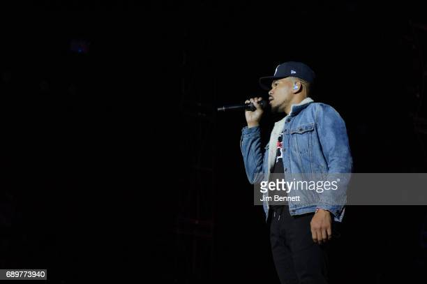 Chance the Rapper performs live on stage during the Sasquatch Festival at Gorge Amphitheatre on May 28 2017 in George Washington