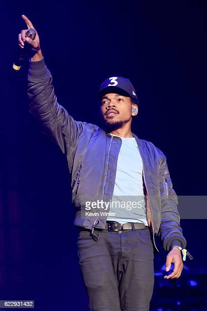 Chance The Rapper performs on Camp Stage during day one of Tyler the Creator's 5th Annual Camp Flog Gnaw Carnival at Exposition Park on November 12...
