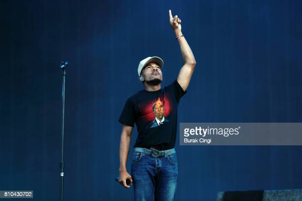 Chance the Rapper performs on day 1 of Wireless Festival at Finsbury Park on July 7 2017 in London England
