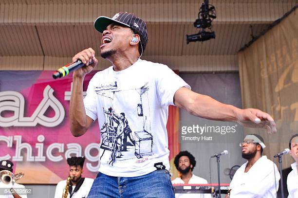 Chance The Rapper performs on Day One of the Taste Of Chicago at Grant Park on July 6 2016 in Chicago Illinois