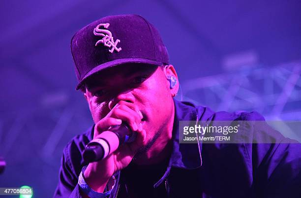 Chance the Rapper performs on the 'Other' stage during the 2015 Bonnaroo Music Arts Festival on June 13 2015 in Manchester Tennessee