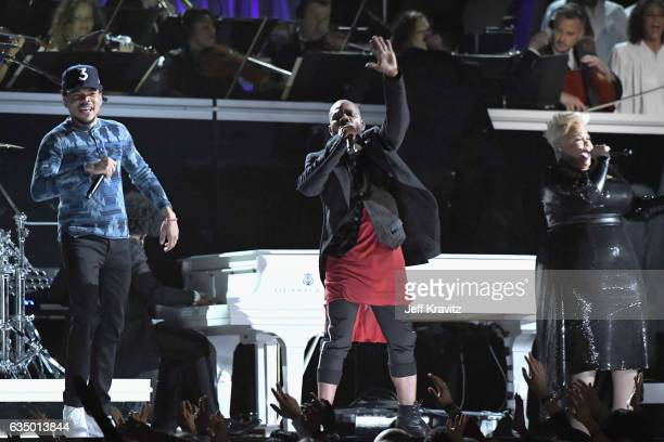 Chance the Rapper performs onstage during The 59th GRAMMY Awards at STAPLES Center on February 12 2017 in Los Angeles California