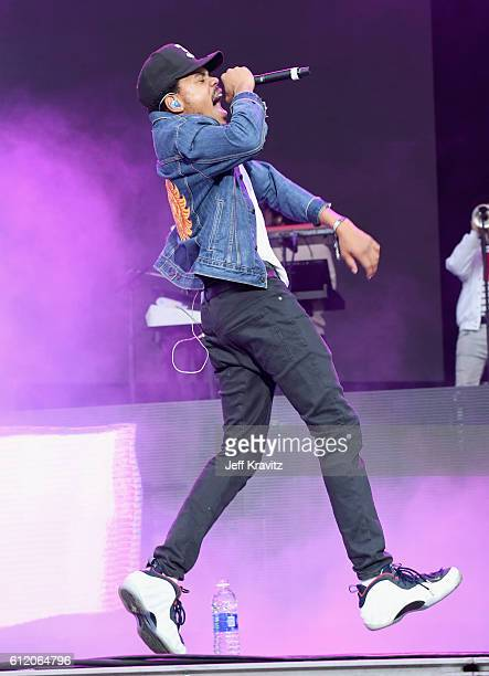 Chance The Rapper performs onstage during The Meadows Music Arts Festival Day 2 on October 2 2016 in Queens New York