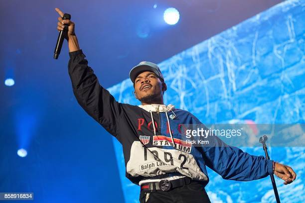 Chance the Rapper performs onstage during weekend one day two of Austin City Limits Music Festival at Zilker Park on October 7 2017 in Austin Texas
