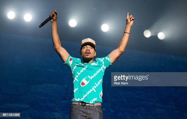 Chance the Rapper performs onstage during weekend two day two of Austin City Limits Music Festival at Zilker Park on October 14 2017 in Austin Texas