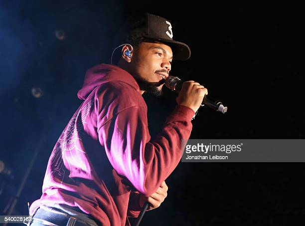 Chance The Rapper performs onstage durinng TakeTwo's Annual E3 Kickoff Party at Cecconi's Restaurant on June 13 2016 in Los Angeles California