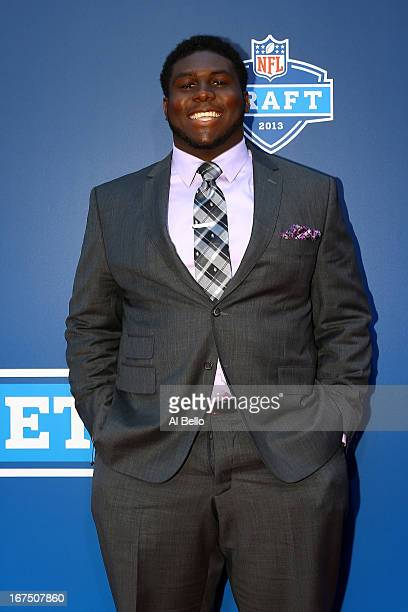 Chance Warmack of the Alabama Crimson Tide arrives on the red carpet for the first round of the 2013 NFL Draft at Radio City Music Hall on April 25...
