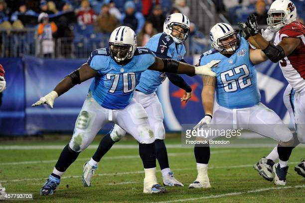 Chance Warmack of the Tennessee Titans plays against the Arizona Cardinals at LP Field on December 15 2013 in Nashville Tennessee