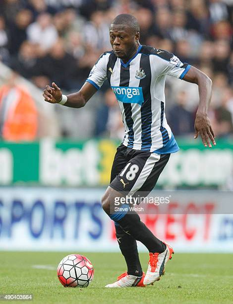 Chancel Mbemba in action for Newcastle united during the Barclays Premier League match between Newcastle United and Chelsea at St James's Park Park...