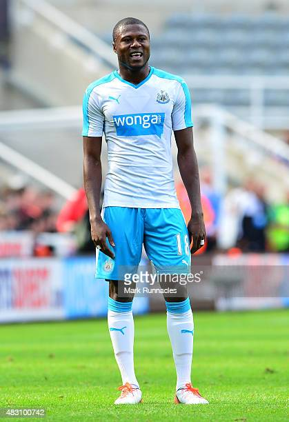Chancel Mbemba of Newcastle in action during the Pre Season Friendly between Newcastle United and Borussia Moenchengladbach at St James' Park on...