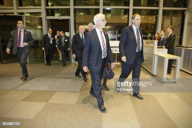Chancellor Alistair Darling arrives at Cass Business School to deliver the annual Mais lecture in the City of London