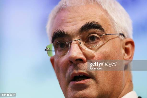 Chancellor Alistair Darling delivers the annual Mais lecture at the Cass Business School in the City of London