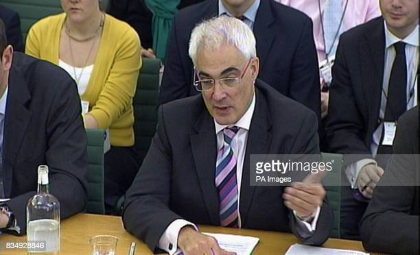 Chancellor Alistair Darling gives evidence to the Treasury Select Committee regarding his plans to borrow Britain out of recession