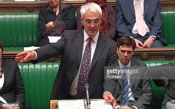 Chancellor Alistair Darling makes a statement to the House of Commons London regarding the Treasury's plans to save crisishit Northern Rock