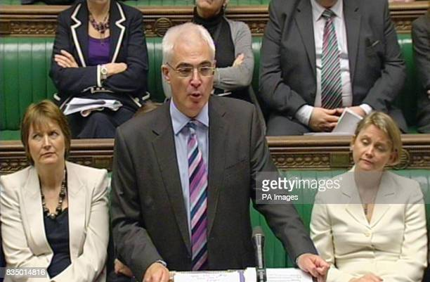 Chancellor Alistair Darling speaks in the House of Commons London where he said that today's measures to support the banks would remove 'uncertainty'...