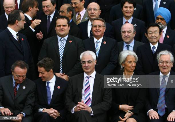 Chancellor Alistair Darling US Treasury Secretary Timothy Geithner and French Finance Minister Christine Lagarde with G20 finance ministers in...