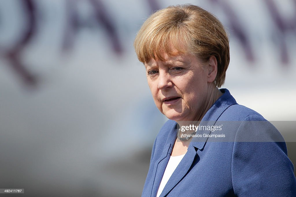 Chancellor Angela Merkel attends the ILA Berlin Air Show 2014 on May 20, 2014 in Schoenefeld near Berlin, Germany.